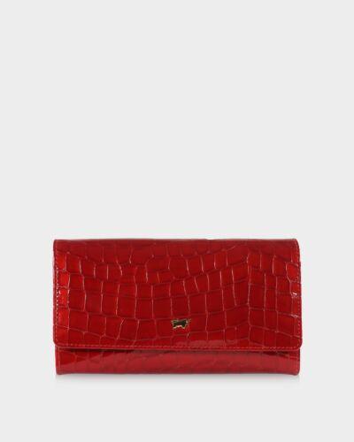 Braun Büffel Verona Wallet 14CS L Geldbörse Rot Rot Neu